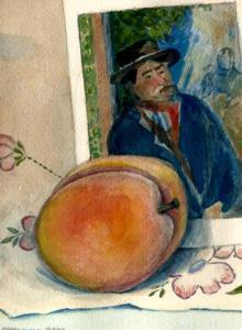 peach and cezanne
